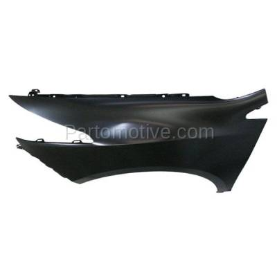 Aftermarket Replacement - FDR-1844L 2010-2013 Acura ZDX Front Fender Quarter Panel without Molding Holes (without Turn Signal Light Hole) Steel Left Driver Side - Image 2