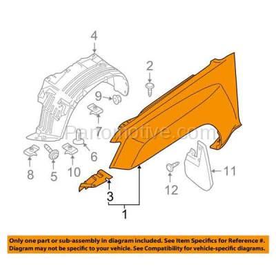 Aftermarket Replacement - FDR-1833L 2005-2015 Nissan Xterra (Off-Road, PRO-4X, S, SE, SV, X) 2.5L/4.0L Front Fender Quarter Panel Primed Steel Left Driver Side - Image 3