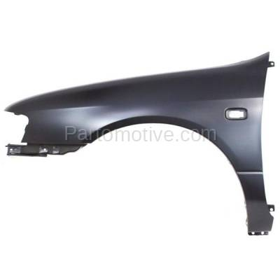 Aftermarket Replacement - FDR-1345L 1999-2002 Infiniti G20 (2.0 Liter Engine) Front Fender Quarter Panel (with Turn Signal Lamp Hole) Primed Steel Left Driver Side - Image 1