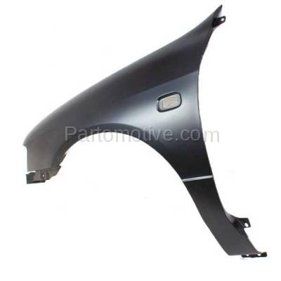 Aftermarket Replacement - FDR-1345L 1999-2002 Infiniti G20 (2.0 Liter Engine) Front Fender Quarter Panel (with Turn Signal Lamp Hole) Primed Steel Left Driver Side - Image 3