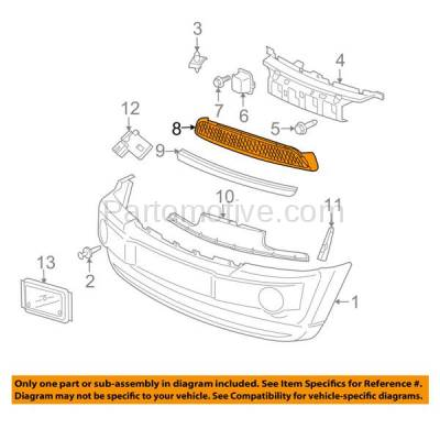 Aftermarket Replacement - GRL-1349 06-10 GR. Cherokee SRT-8 Front Lower Bumper Grill Grille Panel Insert Assembly - Image 3