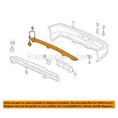 Aftermarket Replacement - BRT-1000R 94-01 Integra Rear Upper Bumper Cover Retainer Mounting Brace Reinforcement Support Steel - Image 3