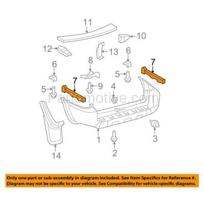 Aftermarket Replacement - BRT-1176RL & BRT-1176RR 06-09 4Runner Rear Bumper Cover Face Bar Retainer Mounting Brace Reinforcement Support Bracket SET PAIR Right Passenger & Left Driver Side - Image 3