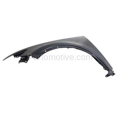 Aftermarket Replacement - FDR-1344L 2003-2008 Infiniti FX35/FX45 (3.5 & 4.5 Liter V6/V8 Engine) Front Fender Quarter Panel (with Molding Holes) Primed Steel Left Driver Side - Image 2