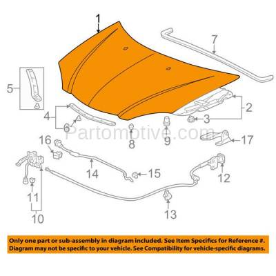 Aftermarket Replacement - HDD-1003 2002-2006 Acura RSX (Coupe 2-Door) 2.0L Front Hood Panel Assembly Primed Steel - Image 3