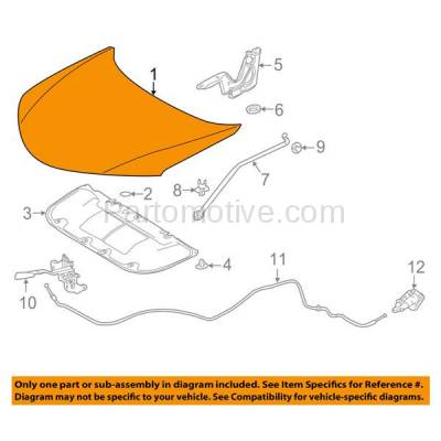Aftermarket Replacement - HDD-1719 2013-2018 Toyota RAV4 (Adventure, LE, Limited, Platinum, SE, XLE) 2.5L (Models Made In North America) Front Hood Panel Assembly Primed Steel - Image 3