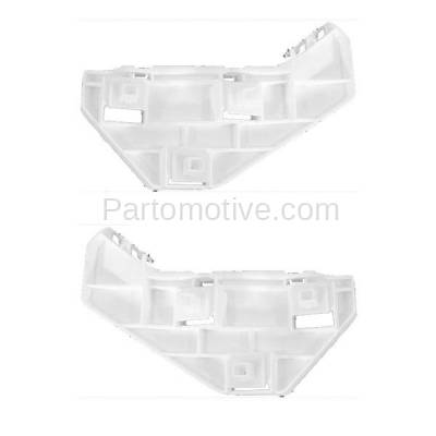 Aftermarket Replacement - BRT-1054FL & BRT-1054FR 02-06 CR-V 2.4L Front Bumper Cover Face Bar Spacer Retainer Mounting Brace Support Bracket Plastic SET PAIR Right Passenger & Left Driver Side - Image 2