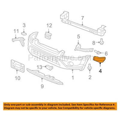 Aftermarket Replacement - BRT-1054FL & BRT-1054FR 02-06 CR-V 2.4L Front Bumper Cover Face Bar Spacer Retainer Mounting Brace Support Bracket Plastic SET PAIR Right Passenger & Left Driver Side - Image 3