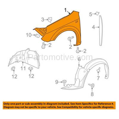 Aftermarket Replacement - FDR-1089R 2007-2009 Saturn Aura (2.4 & 3.5 & 3.6 Liter) Front Fender Quarter Panel (with Turn Signal Light Hole) Primed Steel Right Passenger Side - Image 3