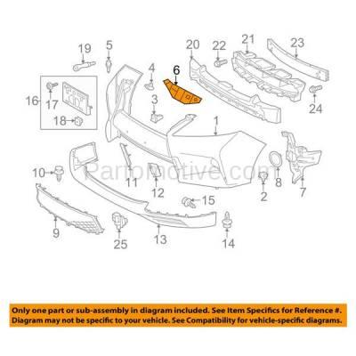 Aftermarket Replacement - BRT-1084FL & BRT-1084FR 13-15 RX350 & RX450h Front Bumper Cover Face Bar Retainer Mounting Brace Reinforcement Support Bracket SET PAIR Right Passenger & Left Driver Side - Image 3