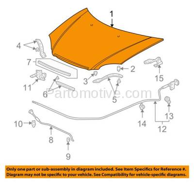 Aftermarket Replacement - HDD-1343 2001-2003 Honda Civic (DX, EX, GX, HX, Hybrid, Si) 1.3 & 1.7 Liter Engine (Coupe & Sedan) Front Hood Panel Assembly Primed Steel - Image 3