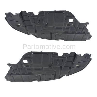 Aftermarket Replacement - ESS-1380L & ESS-1380R 2013-2015 Lexus ES300h & ES350 (2.5 & 3.5 Liter) Front Engine Under Cover Splash Shield Undercar Guard Plastic SET PAIR Right & Left Side - Image 2