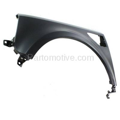 Aftermarket Replacement - FDR-1441L 2008-2015 Land Rover LR2 (2.0L & 3.2L Engine) Front Fender Quarter Panel with Side Molding Holes Primed Steel Left Driver Side - Image 2