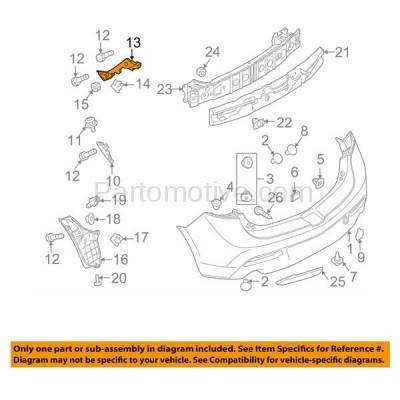 Aftermarket Replacement - BRT-1094RL & BRT-1094RR 10-12 Mazda 3 Hatchback Rear Bumper Cover Face Bar Retainer Mounting Brace Reinforcement Support Bracket SET PAIR Right Passenger & Left Driver Side - Image 3