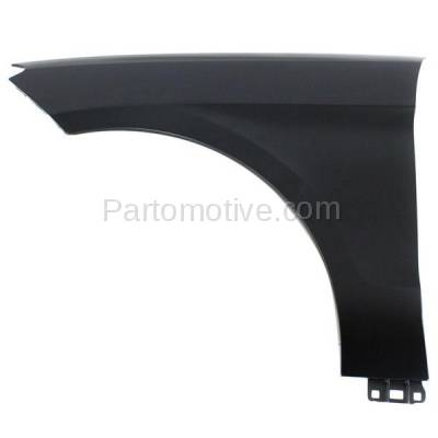 Aftermarket Replacement - FDR-1450L 2012-2015 Mercedes-Benz ML-Class (excluding ML63) Front Fender Quarter Panel (without Molding Holes) Primed Aluminum Left Driver Side - Image 1