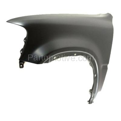 Aftermarket Replacement - FDR-1188L 1997-2001 Honda CR-V (2.0L) Front Fender Quarter Panel without Side Light Holes (with Molding Holes) Primed Steel Left Driver Side - Image 2