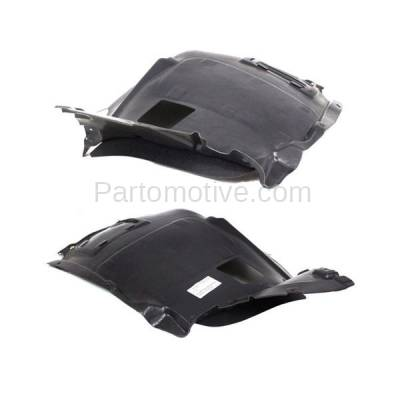 Aftermarket Replacement - IFD-1094L & IFD-1094R 08-13 1-Series Front Splash Shield Inner Fender Liner Panel Left Right PAIR SET - Image 2