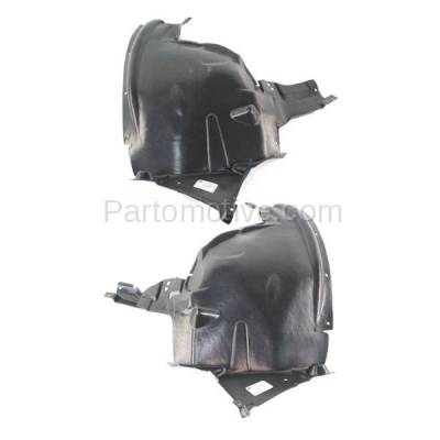 Aftermarket Replacement - IFD-1084L & IFD-1084R 07-13 X5 Front Splash Shield Inner Fender Liner Panel Left & Right Side SET PAIR - Image 1