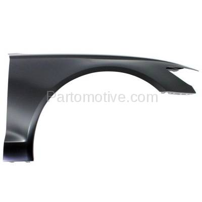 Aftermarket Replacement - FDR-1054R 2012-2018 Audi A6/A6 Quattro & S6 (2.0 & 3.0 & 4.0 Liter) Sedan Front Fender Quarter Panel Primed Steel Right Passenger Side - Image 1