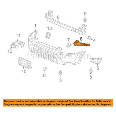 Aftermarket Replacement - BRT-1063FL & BRT-1063FR 02-04 CR-V Front Bumper Cover Upper Reinforcement Retainer Mounting Brace Support Steel SET PAIR Right Passenger & Left Driver Side - Image 3