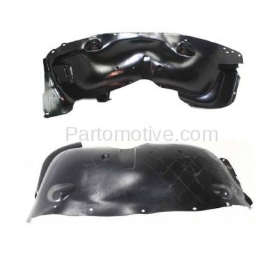 Aftermarket Replacement - IFD-1155L & IFD-1155R 02-04 Liberty Front Splash Shield Inner Fender Liner Panel Left & Right SET PAIR - Image 2