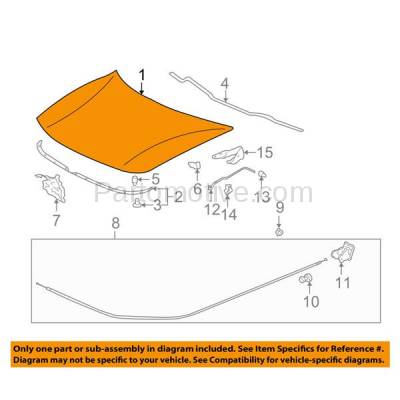Aftermarket Replacement - HDD-1001 1994-2001 Acura Integra (Hatchback & Sedan) 1.8L Front Hood Panel Assembly Primed Steel - Image 3