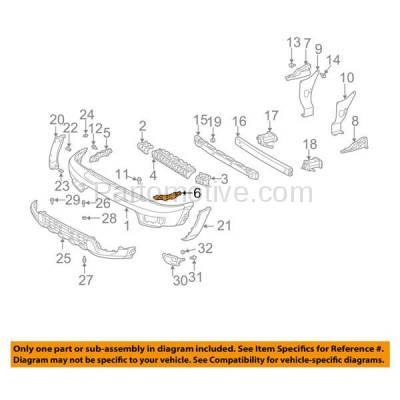 Aftermarket Replacement - BRT-1150FL & BRT-1150FR 03-05 4Runner Front Bumper Cover Retainer Mounting Brace Reinforcement Support Bracket Plastic SET PAIR Right Passenger & Left Driver Side - Image 3