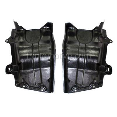 Aftermarket Replacement - ESS-1525L & ESS-1525R Front Engine Splash Shield Under Cover For 04-09 Quest Van Left & Right SET PAIR - Image 1