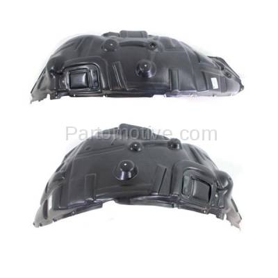 Aftermarket Replacement - IFD-1129L & IFD-1129R 09-17 Ram 1500 Pickup Front Splash Shield Inner Fender Liner Left Right SET PAIR - Image 2