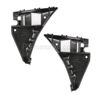 Aftermarket Replacement - BRT-1021FL & BRT-1021FR 10-14 Mustang Front Bumper Cover Retainer Mounting Brace Support Bracket SET PAIR Right Passenger & Left Driver Side Plastic - Image 1