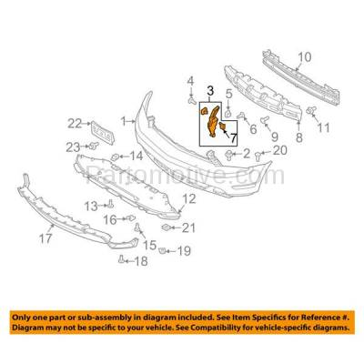 Aftermarket Replacement - BRT-1021FL & BRT-1021FR 10-14 Mustang Front Bumper Cover Retainer Mounting Brace Support Bracket SET PAIR Right Passenger & Left Driver Side Plastic - Image 3