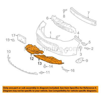 Aftermarket Replacement - ESS-1594L & ESS-1594R 13 14 15 Avalon Front Engine Splash Shield Under Cover Guard Left Right SET PAIR - Image 3