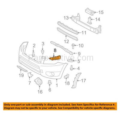 Aftermarket Replacement - BRT-1148FL & BRT-1148FR 06-12 RAV4 Front Bumper Cover Face Bar Retainer Mounting Brace Reinforcement Support Bracket SET PAIR Right Passenger & Left Driver Side - Image 3