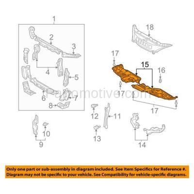 Aftermarket Replacement - ESS-1396L & ESS-1396R 02-03 ES300 & 04-06 ES330 Front Engine Splash Shield Under Cover LH+RH SET PAIR - Image 3