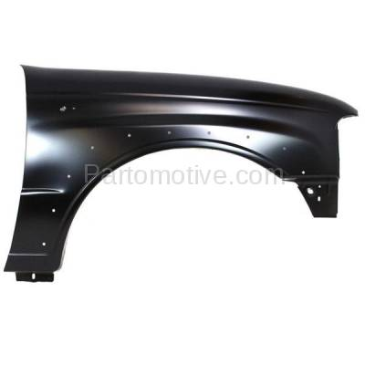 Aftermarket Replacement - FDR-1490R 2001-2010 Mazda B-Series (Base, SE) 4WD Front Fender (with Wheel Opening Molding Holes) Primed Steel Right Passenger Side - Image 1