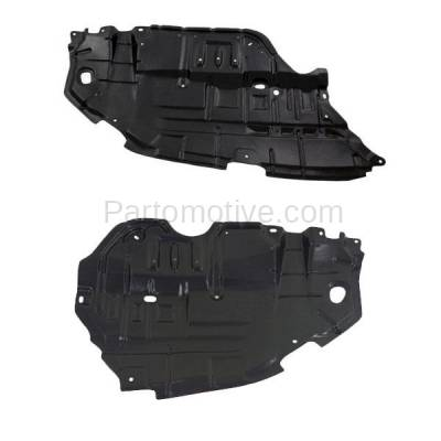 Aftermarket Replacement - ESS-1606L & ESS-1606R 12 13 14 Camry Front Engine Splash Shield Under Cover Guard Right Left SET PAIR - Image 1