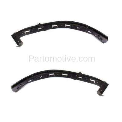 Aftermarket Replacement - BRT-1001FL & BRT-1001FR 04-08 TL Front Bumper Retainer Mounting Brace Support SET PAIR Right Passenger & Left Driver Side Black Steel - Image 2
