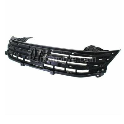 Aftermarket Replacement - GRL-1862C CAPA 10-11 Insight Front Face Bar Grill Grille Black HO1200208 71121TM8G01 - Image 2