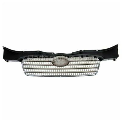 Aftermarket Replacement - GRL-1903C CAPA Front Face Bar Grill Grille HY1200143 863601E011 For 06-11 Accent Sedan - Image 3
