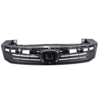 Aftermarket Replacement - GRL-1860C CAPA 12 Civic 4-Door Sedan Front Grill Grille Primed HO1200206 71121TR0A01 - Image 1