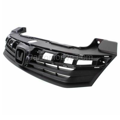 Aftermarket Replacement - GRL-1860C CAPA 12 Civic 4-Door Sedan Front Grill Grille Primed HO1200206 71121TR0A01 - Image 2