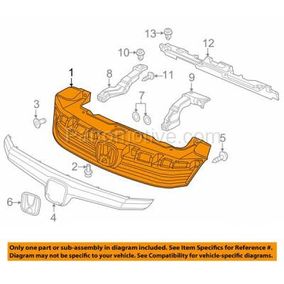 Aftermarket Replacement - GRL-1860C CAPA 12 Civic 4-Door Sedan Front Grill Grille Primed HO1200206 71121TR0A01 - Image 3