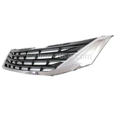 Aftermarket Replacement - GRL-2545C CAPA 11-14 Sienna LE Front Face Bar Grill Grille Chrome TO1200334 5310108080 - Image 2