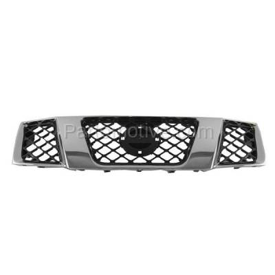 Aftermarket Replacement - GRL-2265C CAPA Front Grill Grille NI1200217 62310EA700 For 05-08 Frontier Pickup Truck - Image 1