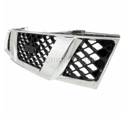 Aftermarket Replacement - GRL-2265C CAPA Front Grill Grille NI1200217 62310EA700 For 05-08 Frontier Pickup Truck - Image 2