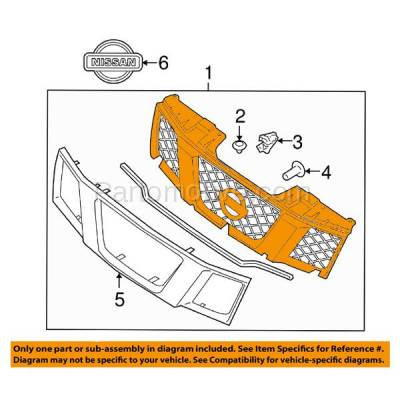 Aftermarket Replacement - GRL-2265C CAPA Front Grill Grille NI1200217 62310EA700 For 05-08 Frontier Pickup Truck - Image 3