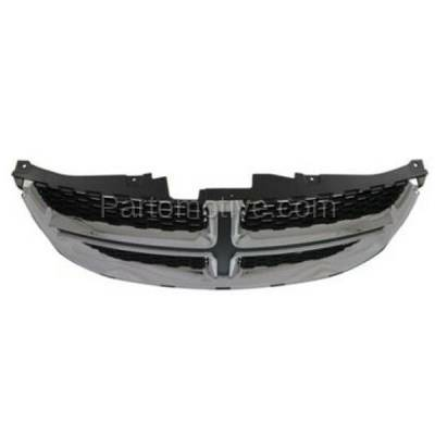Aftermarket Replacement - GRL-1331C CAPA 11-15 Grand Caravan Front Grill Grille Chrome w/Black Insert 68088969AC - Image 3