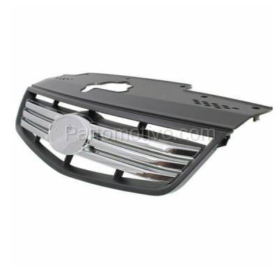 Aftermarket Replacement - GRL-1982C CAPA Front Grill Grille Chrome/Blk Type-2 KI1200129 863611G210 For 06-09 Rio - Image 2