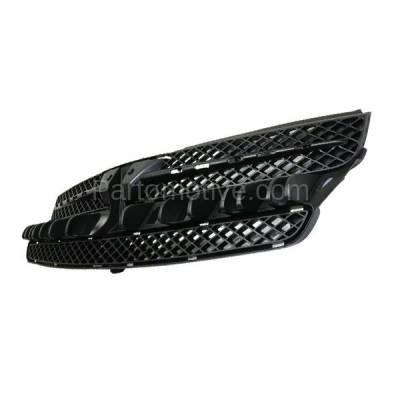 Aftermarket Replacement - GRL-2497C CAPA 04-05 Sienna Front Grill Grille Black/Chrome Shell TO1200277 53111AE020 - Image 2