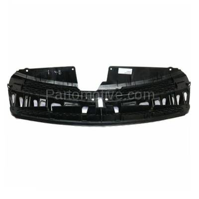 Aftermarket Replacement - GRL-2497C CAPA 04-05 Sienna Front Grill Grille Black/Chrome Shell TO1200277 53111AE020 - Image 3